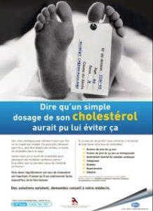 Publicité Pfitzer contre le cholestérol